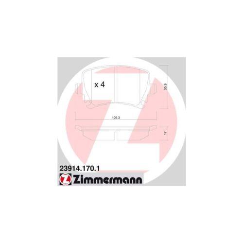 Zimmermann Bremsbeläge hinten Audi Seat Skoda VW