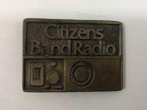 Cb Radio Trucker Semi Driver C.B Citizens Band Radio Gift Collectible Memorabilia 1970s Vintage Belt Buckle