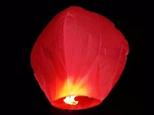 Ballonnen Met Licht : 20 himmelslaterne rot laterne himmel licht skylaterne ballon