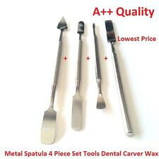Metal Spatula 4 Piece Set Tools Dental Carver Wax Surgical - New Stainless Steel