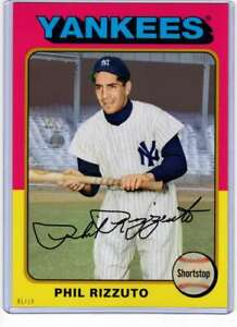Phil Rizzuto 2019 Topps Archives 5x7 Gold #189 /10 Yankees