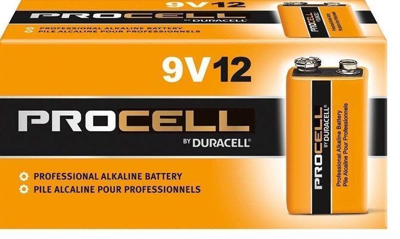 DURACELL PROCELL 9V 9 VOLT ALKALINE BATTERIES Bulk Lot of 12