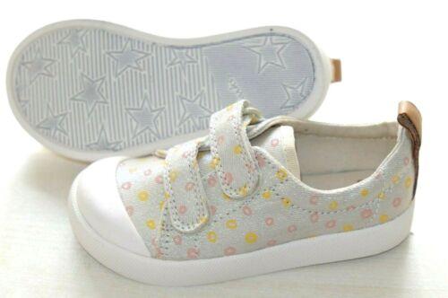 Clarks Doodles en toile coton Fille Bébé Chaussures//Baskets enfant 4//20-6.5//23