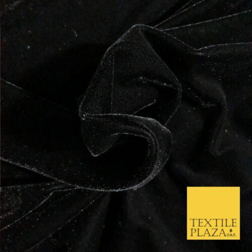 """Luxe Noir Haute Qualité Anglais Plain Velvet tissu-FASHION Robe 58/"""" PD1033"""