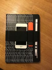 iPad Strap - Phone & Pen Holder with Apple Pencil Case.  50mm Black Elastic