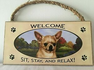 CHIHUAHUA DOG BREED WELCOME SIGN ~ NEW ~ DOOR DECORATION