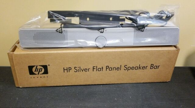 HP SILVER FLAT PANEL SPEAKER BAR P//N EE418AA NEW IN BOX