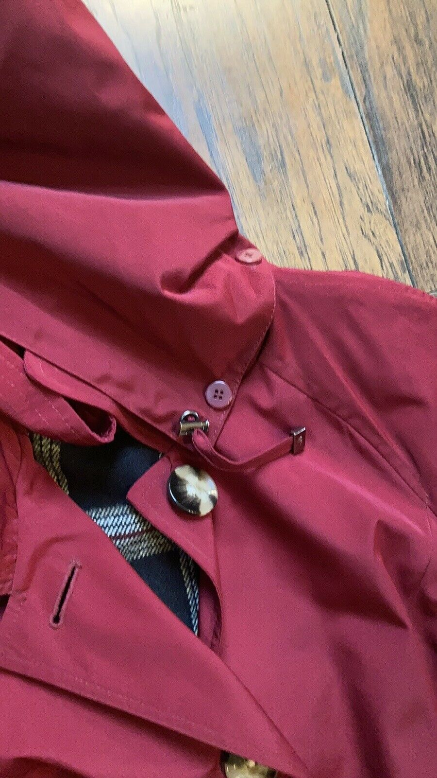 London Fog Red Trench Coat - image 6