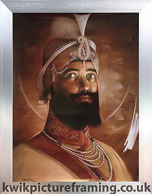 Print Poster Khalsa Sikh Sikhism Life Frame Siri Guru Gobind Singh Ji