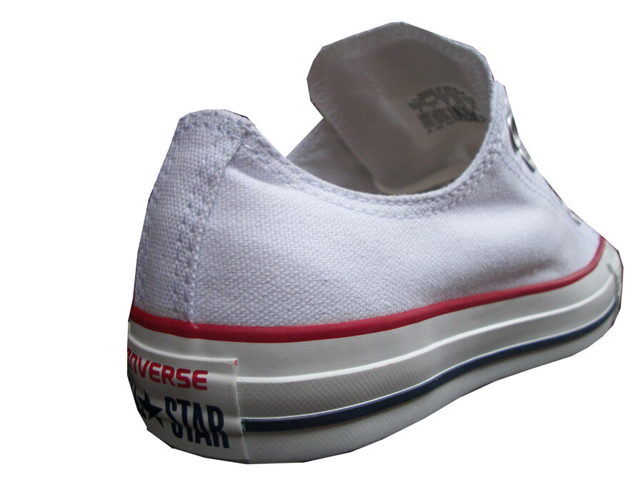 CONVERSE CONVERSE CONVERSE ALLSTARS WHITE RED CANVAS OX LO  MENS WOMENS UK SIZES 3 TO 11 be59ff