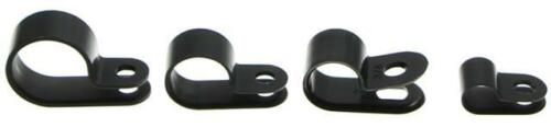 25 Stück Kabelschellen Kabelhalterungen Befestigungsschellen schwarz ca 6mm