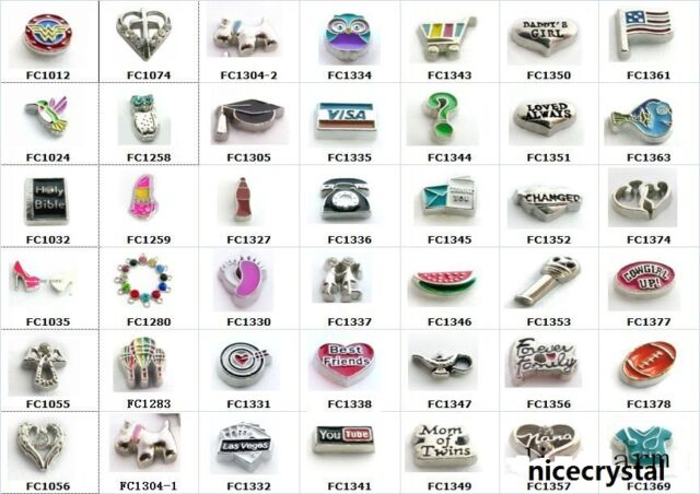 10pcs mixed Floating Charms For Living Class Memory Float Lockets Free Shipping