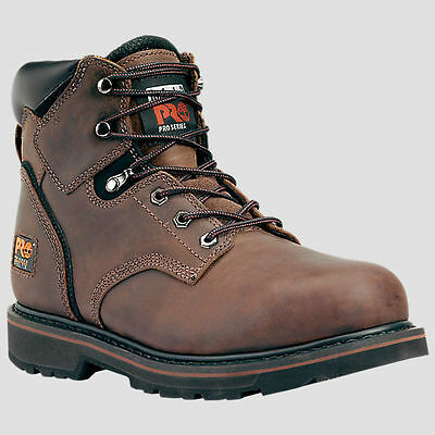 """Mens Timberland 6"""" Pit Boss Soft Toe Brown Safety Work Boots Size 7-15 33046214"""