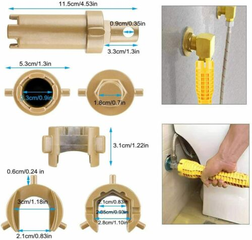 Faucet And Sink Installer Multifunctional Wrench Plumbing Tool For Yellow