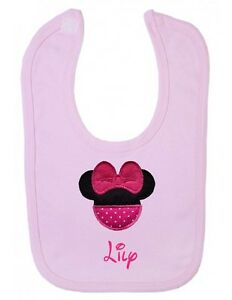 CUSTOMKIDS DISNEY BABY BIB PERSONALISED LOVELY EMBROIDERY IDEAL NEW BABY GIFT
