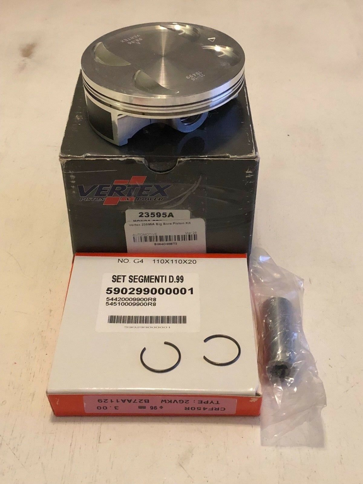 Vertex 23595A Big Bore Piston Kit / / / / / / / / / /