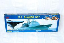 Kitech U.S. Bunker Hill Model Ship Motor Driven Navy Missile Cruiser - VINTAGE