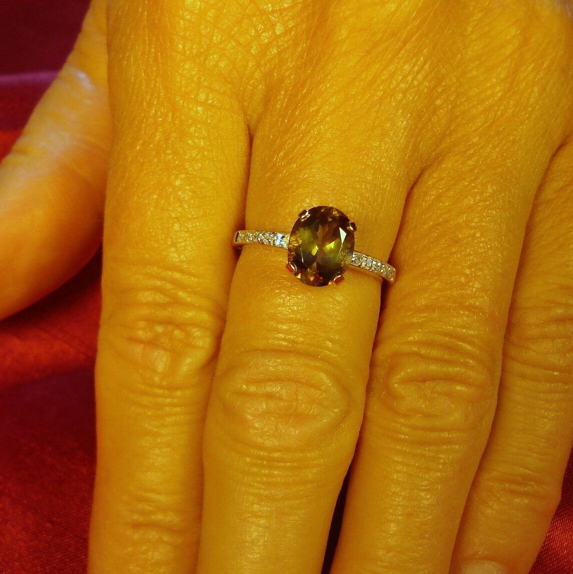 Certified Certified Certified 1.64ct ANDALUSITE & Diamante Anello d'oro 8abc1c