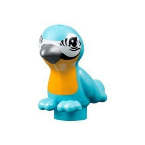 Medium Azure LEGO Animal Bird with Dark Bluish Gray Beak /& Yellow Chest
