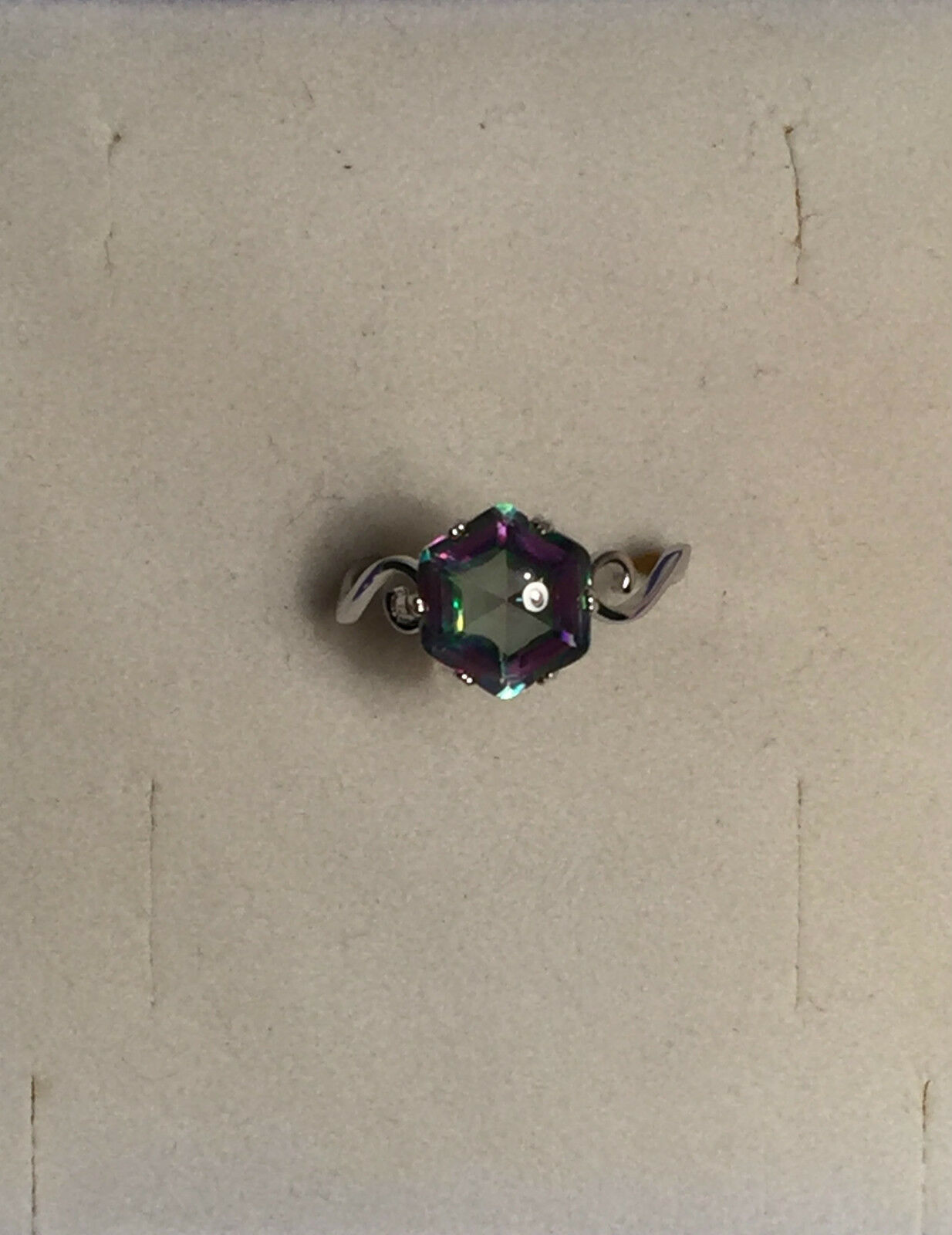 Ring Größe 7 Stein Mystic Topaz, 925 Sterling silver, Rhodiniert 0011