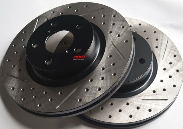 Fits Lexus IS250 Slotted Or Cross Drilled Rotors Akebono Pads Front Rear Set