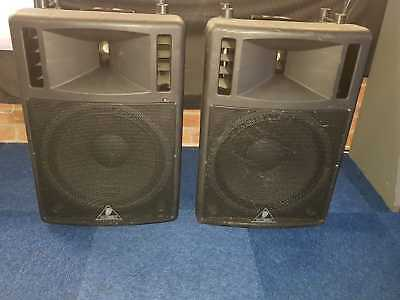 Pair Behringer Ultrawave B300 Pa Speakers Coverted To Passive Dj Disco Club Band Ebay