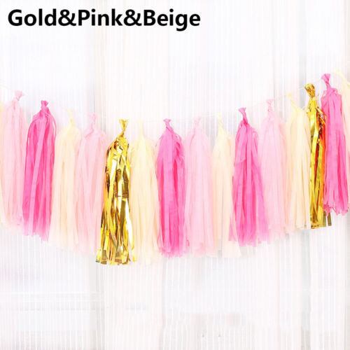 Favors Party Garland Tissue Paper Tassel Hanging Banners Wedding Decoration