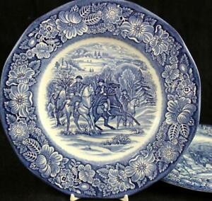 Staffordshire-LIBERTY-BLUE-2-Luncheon-Plates-A-CONDITION