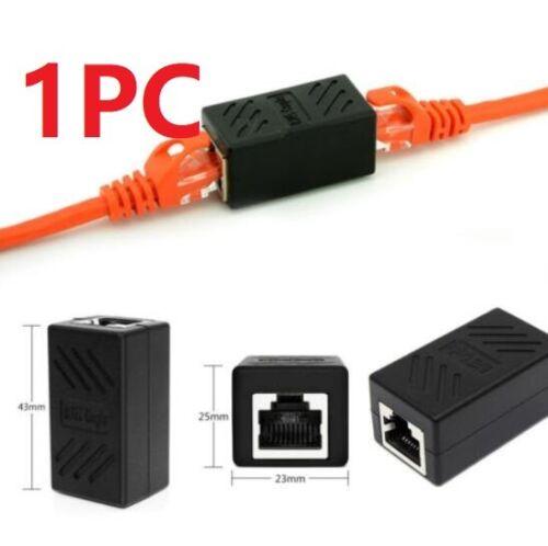 1PC RJ45 LAN Port1 Internet Ethernet Cable Splitter Connector Adapter Extender \