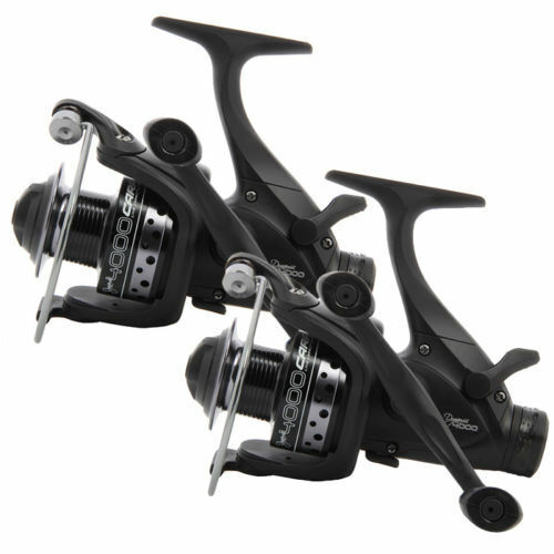 2 x NGT Dynamic 4000 10BB Deluxe Carp Fishing Runner Reels 10BB Twin Handle