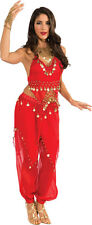 Adult Sexy Deluxe Harem Belly Dancer Arabian Genie Costume