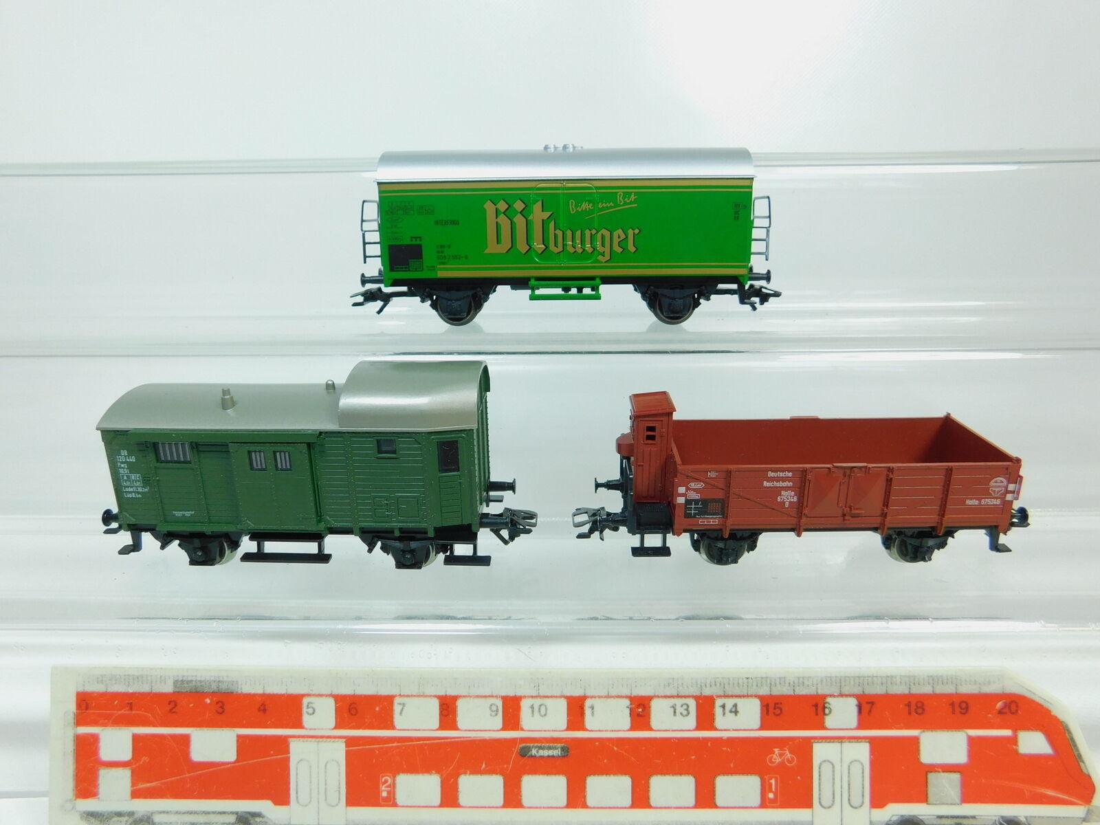 BP640-0,5 x Märklin H0   Ac Vagón de Mercancía Etc. Db   DRG Kk   Bitburger