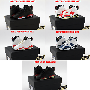 1-6-Air-Jordan-6-TOYS-Sneakers-Enterbay-Nike-Keychain-Sports-Hot-Shoes-Box-USA