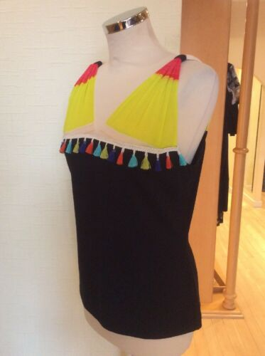 Tassels Olivier Top Yellow Bnwt Black Size 12 Philips Rrp Coral £36 £80 Now rrq5Uw8