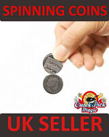 LINKING COINS 10p SPINNING COINS CLOSE UP COIN MAGIC TRICK COIN / STREET MAGIC