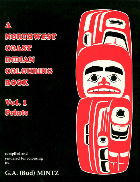 Rare Native American Coloring Book Northwest Coast First Nations Designs