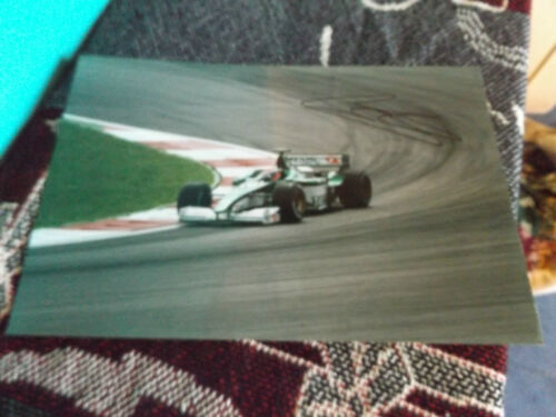 12 x 8 HAND SIGNED F1 PHOTO JOHNNY HERBERT JAGUAR