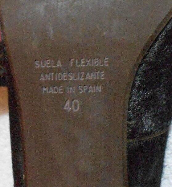 PEDRO  MIRALLES escarpins cuir cuir escarpins pony skin brun foncé P 40 = 41 TBE 871d67