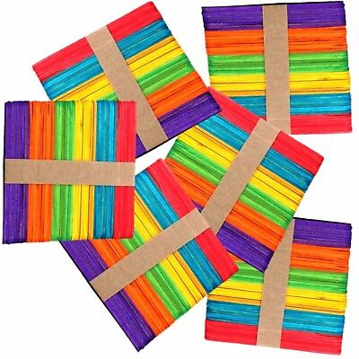 300 Lolly Lollipop Craft Sticks Assorted Colours by Amazing Arts and Crafts