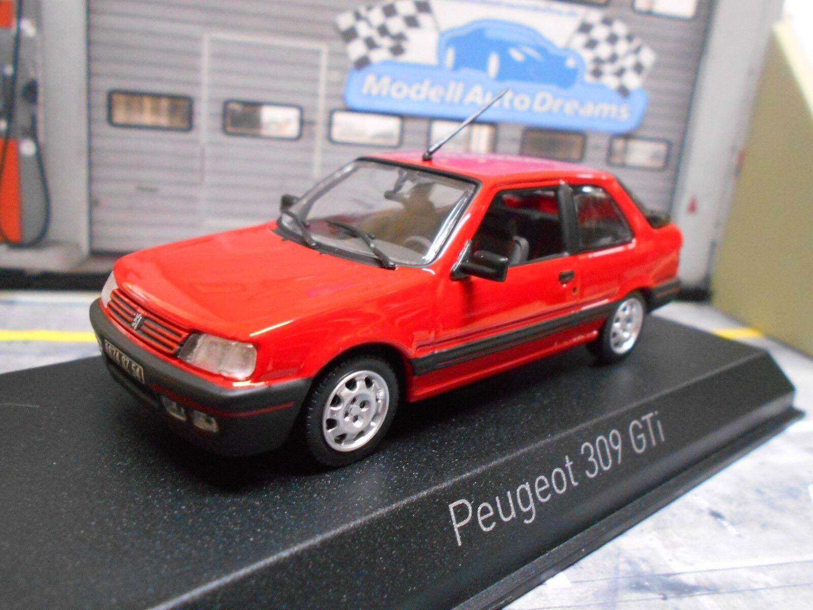 PEUGEOT 309 GTI Sport 1987 rouge Rouge NOREV neuf 1 43