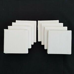 HSD-8-x-Mini-Canvas-Artist-Blank-Square-7x7cm-Small-Art-Board-Acrylic-Oil-Paint