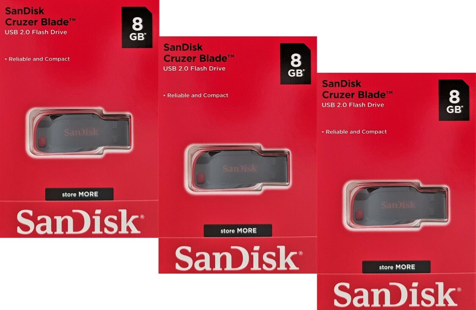 3x 8GB USB Stick