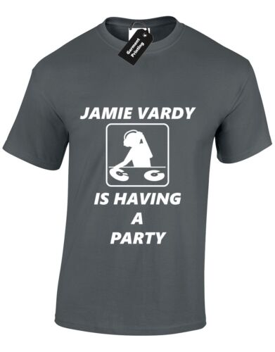 Jamie vardy parti hommes t shirt leicester city football soccer champions objectif fox