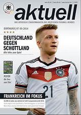 EM-Qualifikation 07.09.2014 Deutschland - Schottland, Poster WM-Tore + WM-Pokal