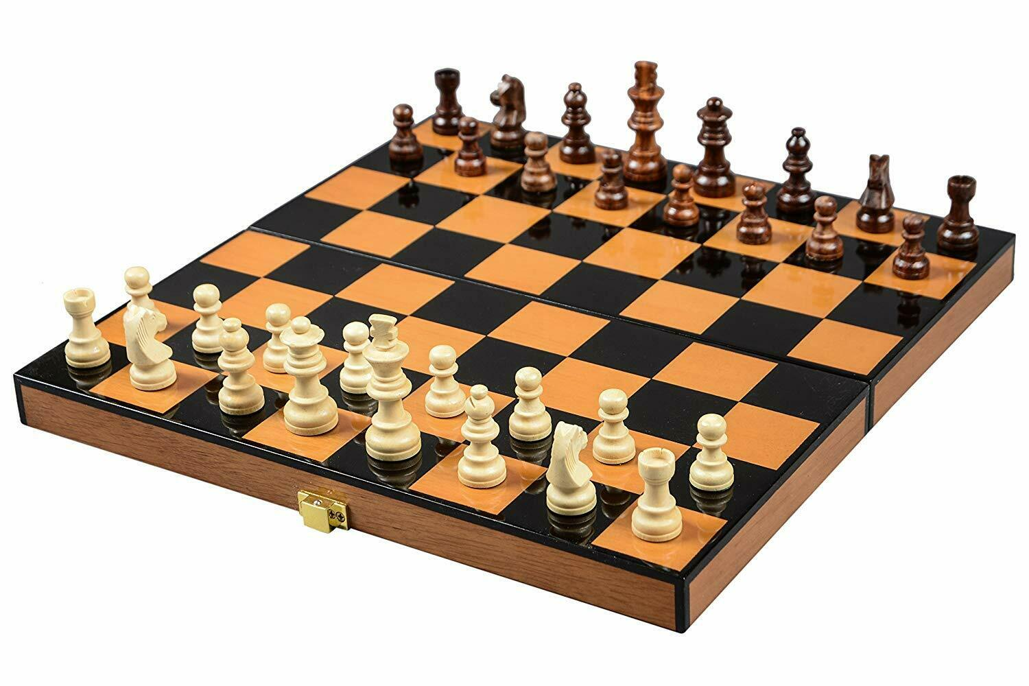 Chess Board Wooden Pieces Folding Travel Chess Sets
