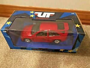 1:18 Brand New UT Models Ford Escort Cosworth Red Rally Car Autoart Sierra RS