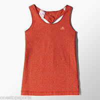 adidas girls orange vest top. Sports top. Summer top. Ages 5-6, 11-12 & 13-14Y