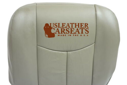 2007 Chevy Silverado Classic Driver Bottom Leather Seat Cover Pewter Gray 2 prod