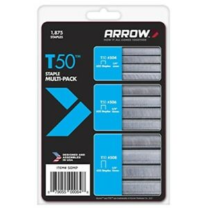 Arrow Fastener 50MP T50 Staple Multi-Pack,