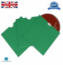 500 CD DVD Scheda Board Wallet/Maniche con taglio del pollice verde bianco NUOVO HQ AAA